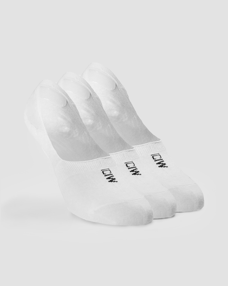 Invisible Socks 3-pack White
