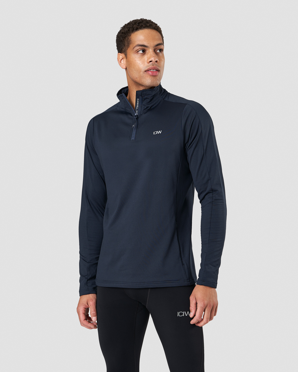 Outdoor Training 1/4 Fleece Zip Petrol Blue